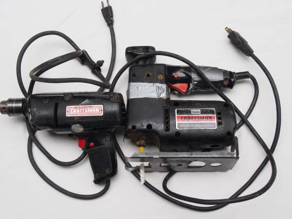 Photo PAIR Old Sears Craftsman Tools 38quot Electric Drill  58quot Scroll Saw - $10 (Albrightsville)