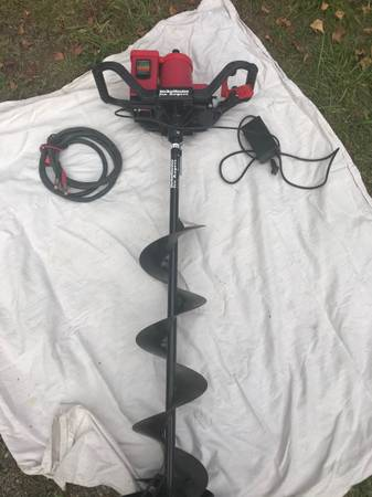 Photo Strike Master Electric Ice Auger 8 12V Dual Power 12,000DP - $250 (Albrightsville)