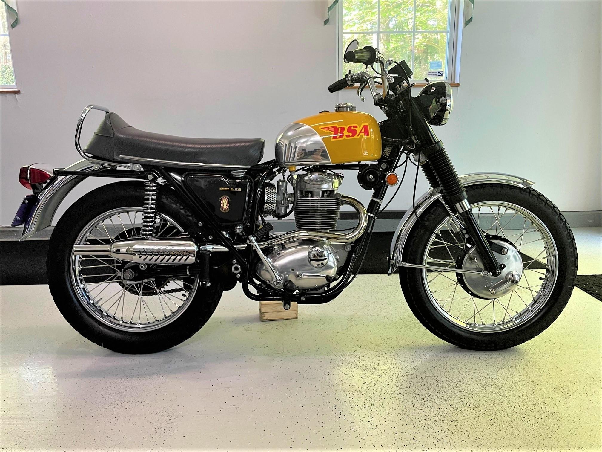 Photo Used 1970 BSA Classic  Vintage Motorcycle  $8500