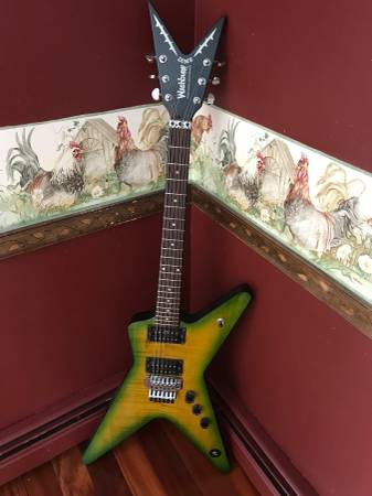 Photo 1997 WASHBURN DIMEBAG DARREL SIGNATURE DIME SLIME GUITAR - $1450 (Kimball)