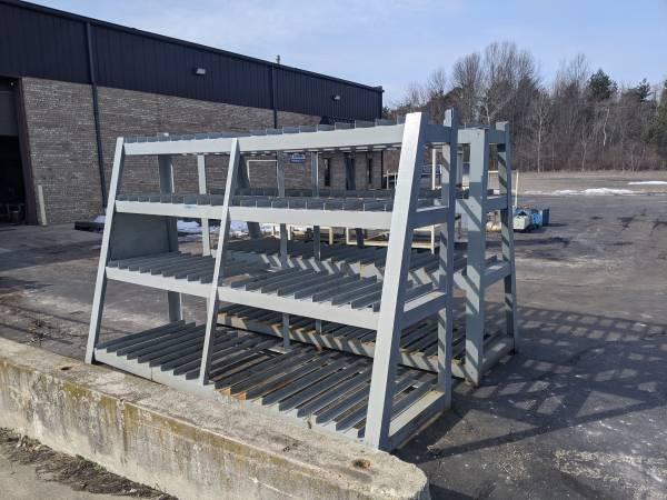 Photo 2 Heavy Duty Steel Diemold Racks - $750 (St. Clair)