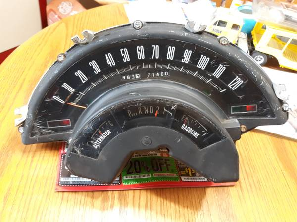 Photo 1966 Chrysler Newport instrument cluster 1965 new yorker and 300 - $200 (Forest Grove)