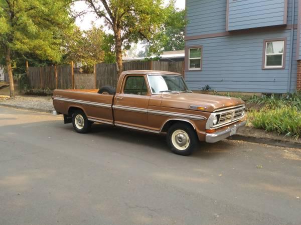 Photo 1972 Ford F100 - $4,750 (Portland)