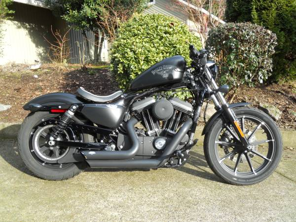 Photo 2018 Hot Rod Harley Sportster 883 Iron w 863 Miles - $9,500 (Tualatin)