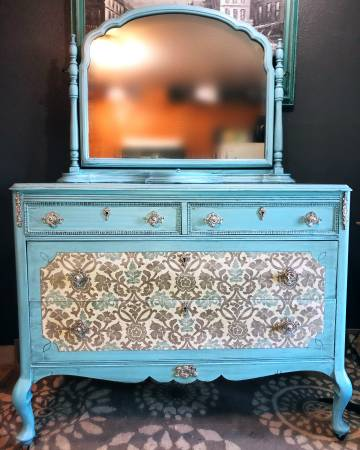 Photo Beautiful Antique Dresser  Mirror-Free delivery - $250