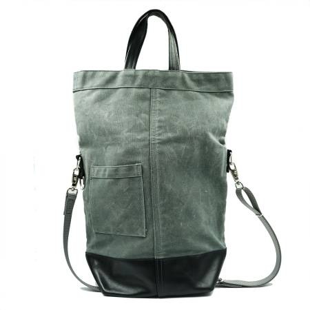 Photo Chester Wallace Leather And Waxed Canvas Tote - Made In Portland, OR - $80 (82nd SE Johnson Creek Blvd)