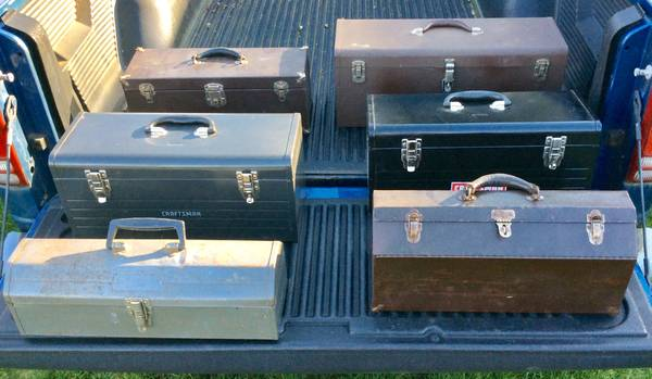 Photo Craftsman steel tool boxes Kennedy Dunlap vintage boxes steel heavy - $1 (Vancouver)