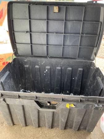Photo Hard plastic key locking storage tool box. - $35 (Rainier)