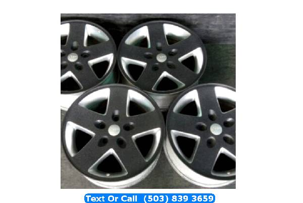 Photo Jeep Wrangler Sahara XJ Rubicon Black  Silver 2-tone Wheels Rims 17 - $395 (portland)