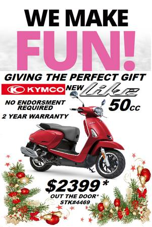 Photo KYMCO NEW LIKE 50i HOLIDAY SPECIAL $2399 OUT THE DOOR (Portland)