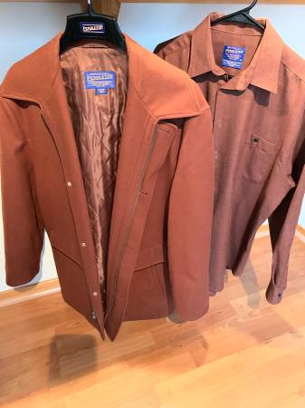 Photo Mens LS Button-Up Shirt  Matching Coat - $120 (Pearl District)