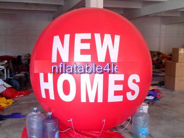Photo NEW HOMES 7 ft Red Advertising Round Air or Helium Balloon Ball LARGE - $100 (Portland 97218)