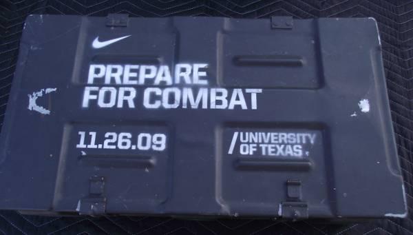 Photo NIKE University of Texas Longhorns Prepare for Combat Steel Ammo Box - $60 (SE Portland)
