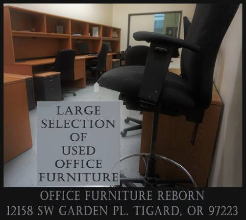 Photo New  Used Office Furniture - Choose A Desk  Chair Or Desks  Chairs (Office Furniture Reborn  12158 SW Garden Place)
