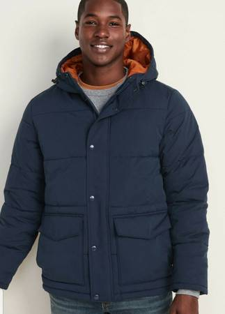 Photo Old Navy Men39s Water Resistant Hooded Puffer Jacket Size Medium - $20 (Oregon City)