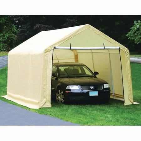 Photo Portable garage 10x17. Cover - $90 (Vancouver)