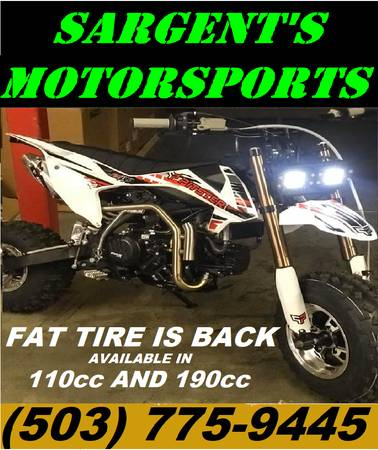 Photo REMEMBER THE FAT CAT and BIG WHEEL THEY ARE BACK IN A 110cc AND 190cc (Portland)