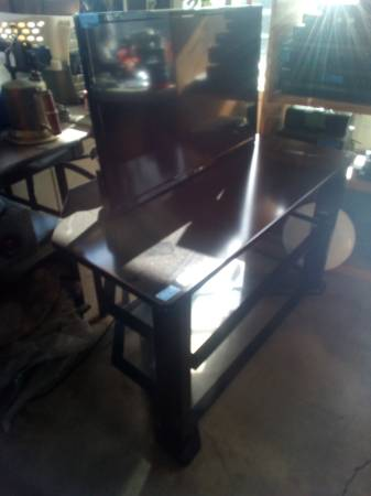 Photo TV stand the tv sold stand only - $55 (Scappoose)