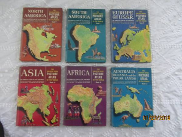 Photo 1960 Golden Book Picture Atlas of the World - $19 (Springfield, VT)