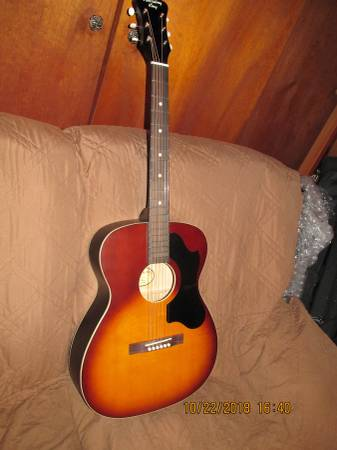 Photo New Recording King OOO size acoustic guitar, with case  tuner - - $125 (St.Regis Falls)