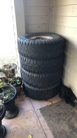 Photo Wrangler Goodyear tires and rims - $200 (De Kalb Junction)