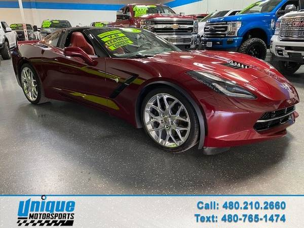 Photo 2017 CHEVROLET CORVETTE STINGRAY Z51 3LT 7 SPEED MANUAL WITH THE 6.2 (DELIVERED RIGHT TO YOU NO OBLIGATION)
