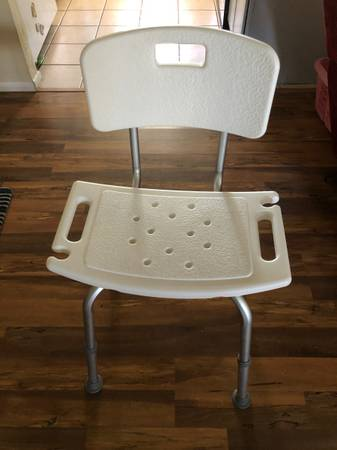 Photo Bath or Shower Chair with back, adjustable height - $15 (Prescott Valley)