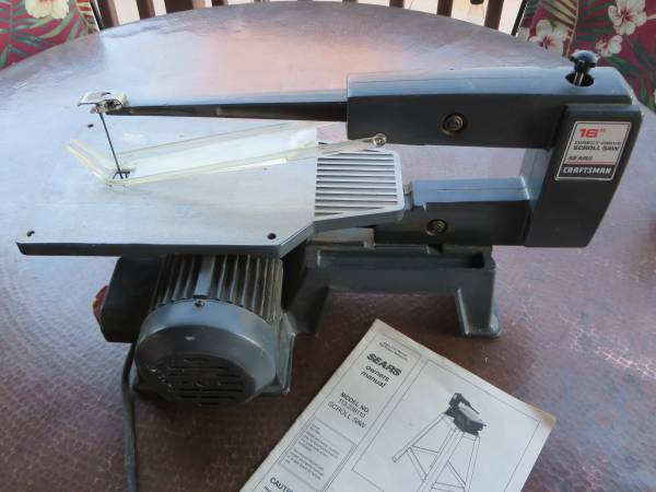 Photo Craftsman 16 in. direct drive scroll saw, cast iron base - $93 (Williamson Valley and Outer loop Roads)