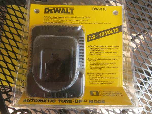 Photo DEWALT NEW DW9116 7.2V to 18V NiCD 18 VOLT Battery Charger - $50 (Williamson Valley  Outer Loop Roads)