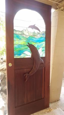 Photo Dolphin Stained Glass Door - $350 (Prescott)