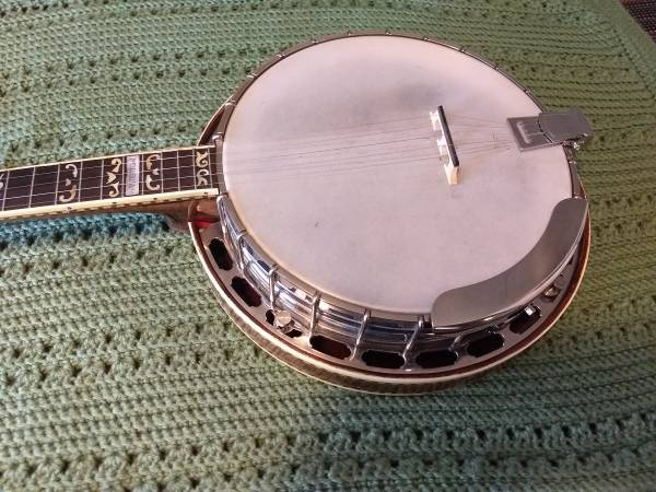 Photo Gibson RB 350 5ST parts banjo with case - $1,300 (Dewey)