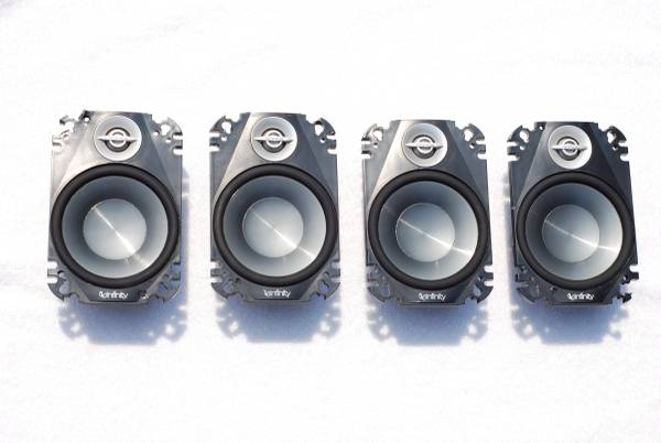 Photo Infinity Reference 4 x 6 2-way car stereo speakers (4 speakers) - $80 (Prescott, AZ)