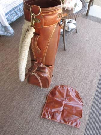 Photo Leather Golf Bag - $50 (Prescott Valley)