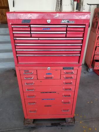 Photo MAC Tools 20-drawer tool box w rolling base - $450 (Prescott)