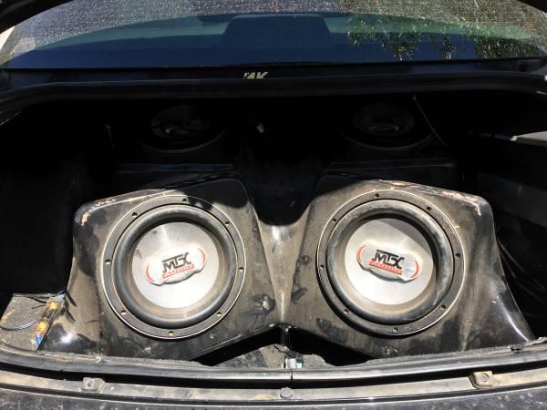 Photo MTX audio subwoofers  Amp - $500 (Chino valley)