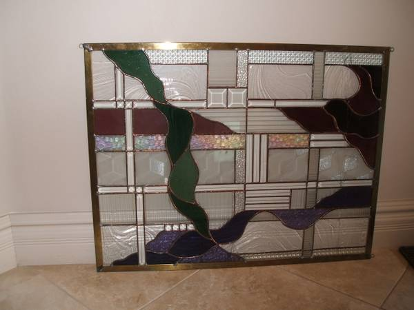 Photo Modern Stained Glass quotRibbonsquot - $45 (Prescott)