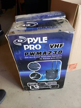 Photo Portable PA System w Echo (still in box) - $60 (Dewey)