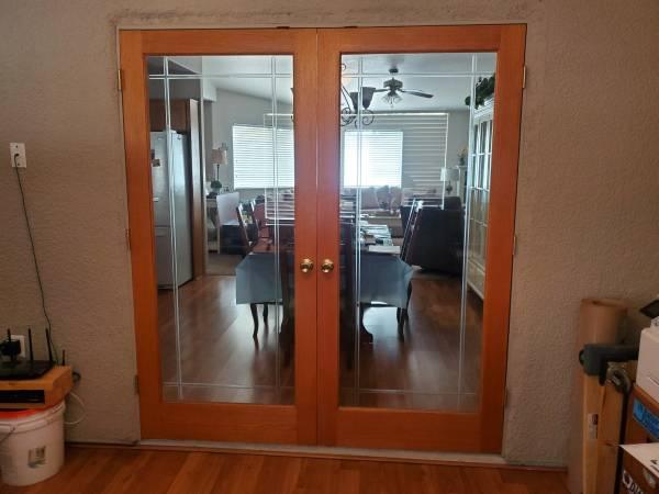 Photo Red Oak Double French Doors - $400 (Prescott Valley)