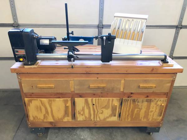 Photo WOOD LATHE 12 Inch - Sears Craftsman  Work Bench Cabinet  Tools - $650 (Prescott)