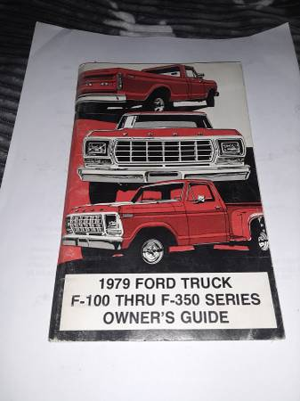 Photo 1979 Ford truck owners manual - $100 (Grand junction)