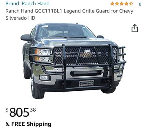Photo 2011-2014 Silverado HD Ranch Hand Grille Guard - $550 (Durango)