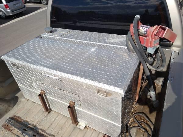 Photo 75 gallon toolbox fuel tank combo with pump - $650 (GJ)