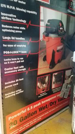 Photo New craftsman 17762 6.5HP 175 blow, 20 gallon shop vac - $100 (Telluride)