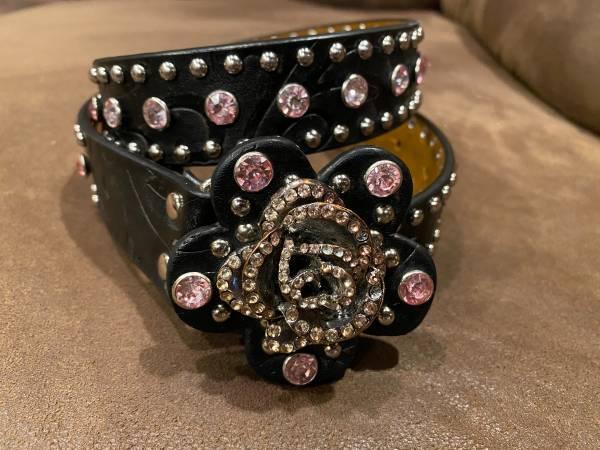 Photo Nocona girls tooled leather bling belts - $20 (Filer, ID)
