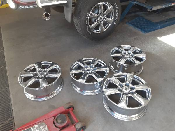 Photo take off,s --18 INCH -WHEELS FOR F-150 FORD PICKUP 6-LUG - $300 (Montrose)