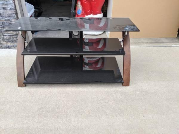 Photo 3 Tier Glass TV Stand - $40 (Pueblo)