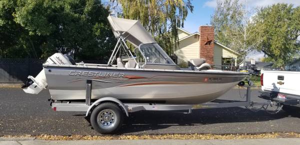 Photo 2004 Crestliner 1650 Sportfish Boat - $10,500 (Lewiston)