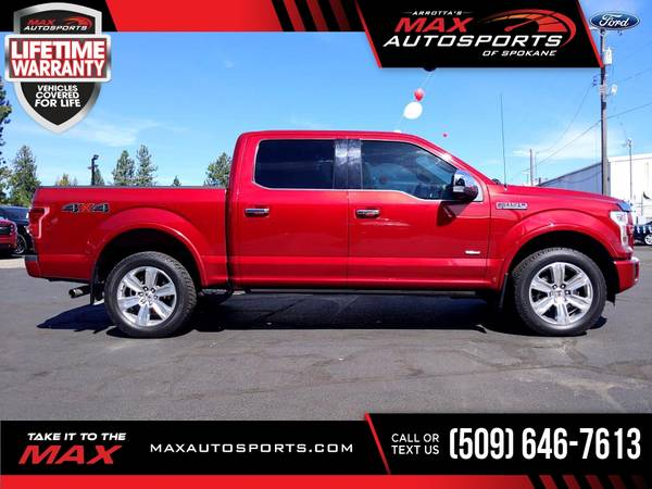 Photo 2015 Ford F150 F 150 F-150 PLATINUM ECOBOOST FULLY LOADED - $39,980 (Max Autosports of Spokane)