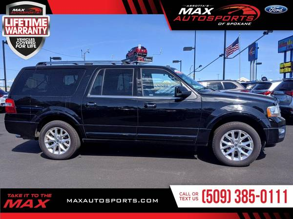 Photo 2017 Ford Expedition EL Limited SUV is priced to SELL NOW - $35980 (Max Autosports of Spokane)