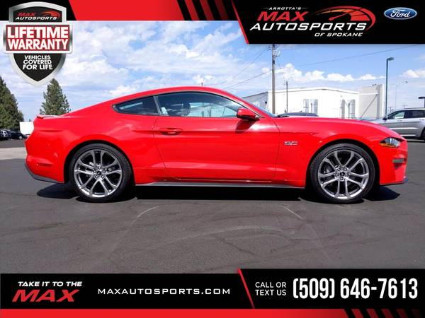 Photo 2019 Ford Mustang GT Premium $590 mo - LIFETIME WARRANTY - $44,849 (Max Autosports of Spokane)
